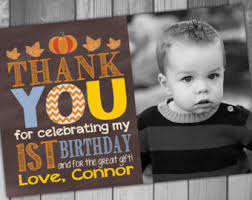 thank you cards first birthday thank you card 1st birthday