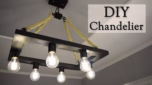 Diy Rustic Chandelier Diy Rustic Hemp Rope Chandelier For 35 Creativity