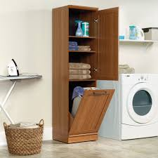 Linen Cabinet With Hamper by Sauder Homeplus Storage Cabinet With Tilt Out Door Hayneedle