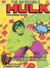 1979 incredible hulk coloring book whitman