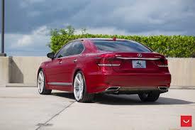 lexus ls460 vossen wheels lexus ls 460 red vossen wheels cars sedan wallpaper 1600x1066
