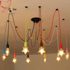 Light Bulb Pendant Nordic Retro Spider Chandelier L Shape Light Bulb Pendant