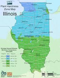 State Map Of Illinois by Illinois Plant Hardiness Zone Map U2022 Mapsof Net