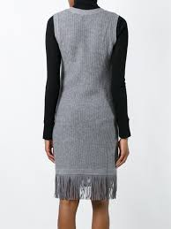 allude sleeveless fringed dress comb3 83 women clothing cocktail