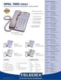 pdf manual for teledex telephone opal series 1010