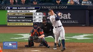 Aaron Judge Yankees Slugger Becomes Tallest Center Fielder - yankees aaron judge coming of age in alcs mlb com