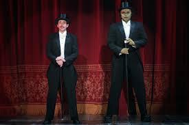 Young Frankenstein Blind Man Chicago Theater Review Young Frankenstein Drury Lane Theatre In