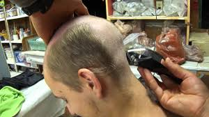 hair cuts for guys who are bald at crown of head ozzie s bald haircut youtube