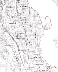 Seattle City Limits Map by Random Dispatches