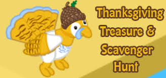 thanksgiving treasure scavenger hunt wkn webkinz newz