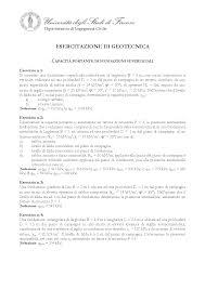 geotecnica dispense esercizio di geotecnica 7 docsity