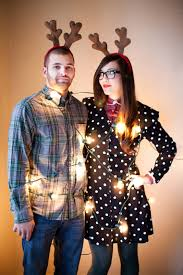 funny christmas card photo ideas for couples christmas lights