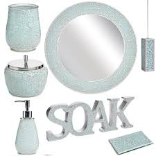 calm waters light aqua mosaic bath accessories aqua mosaic