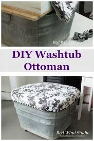 How To Make An Ottoman Out Of A Coffee Table Diy Washtub Ottoman Diy Ottoman Ottomans And Check