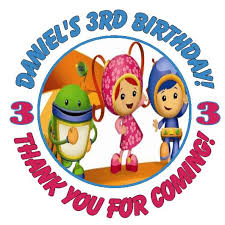 personalised team umizoomi party stickers