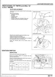 2006 honda trx 350 atv wiring diagram honda rancher wiring diagram