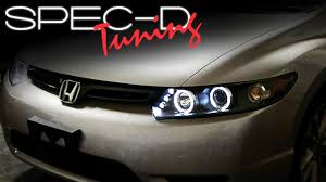 honda civic headlight specdtuning installation 2006 2011 honda civic 2 door