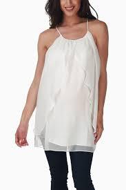 white flowy blouse white flowy maternity tank top