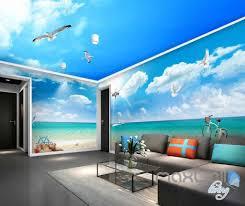 3d shell coastal view entire room wallpaper wall murals art prints 3d shell coastal view entire room wallpaper wall murals art prints idcqw 000110