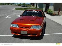 Black Mustang Lx 1989 Candy Orange Ford Mustang Lx 5 0 Coupe 10724293 Photo 3