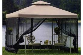 garden treasures 10 x 10 pergola gazebo curtains ingenuity
