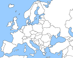 Physical Europe Map by Home