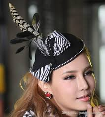 feather hair accessories 2017 fashin hats women wool felt fascinator hat women
