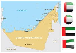 map arab united arab emirates map free vector stock