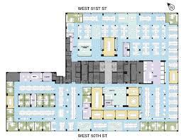Open Office Floor Plan Layout by Second Floor 135w 50th Street