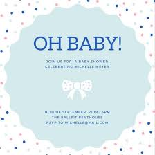 baby shower in customize 334 baby shower invitation templates online canva
