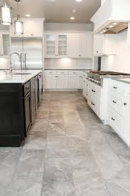 kitchen cabinets with white tile floors muted grey tile floor kitchen and white tile kitchen