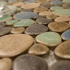 porcelain pebble tile backsplash heart shaped ceramic tile