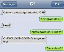 Memes For Iphone Texts - funny text can we get married