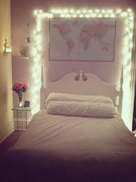 design wondrous christmas lights over headboard bedroom space