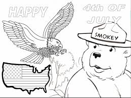 smokey bear coloring pages funycoloring