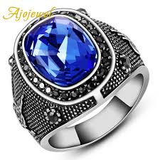 blue rings jewelry images Ajojewel brand size 8 11 5luxury man jewelry accessories blue jpg
