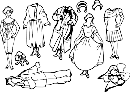 anastasia paper dolls coloring page wecoloringpage