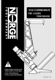 flooring101 norge 18 cleat nailer manual buy hardwood