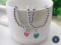 sterling silver beaded charm bracelet images Sterling silver beads with enamel heart charm bracelet project jpg