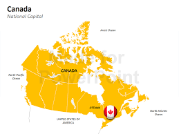 capital of canada map canada map editable powerpoint slides