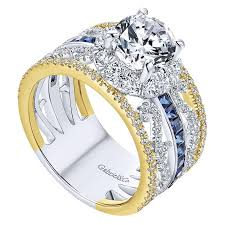 sapphire halo engagement rings 18k yellow white gold and sapphire halo two tone