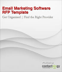 to find the right email marketing provider use an rfp