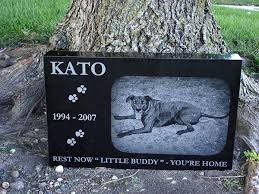 headstones for dogs your pets photo engraved on a pet memorial headstone marker
