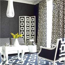 geometric curtains with black and white decor of the room and is