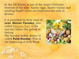 easter traditions in great britain ppt