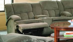 Sectional Sofas With Recliners by Fabric Stylish Sectional Sofa W Recliners U0026 Drop Table