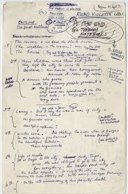 outline to write a paper notes and diagrams show how famous authors including j k rowling ideas the outline for light years a 1975 novel by james salter the