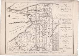 Map Of State Of New York by Ellicott U0027s Map Of The Holland Land Company Purchase In New York