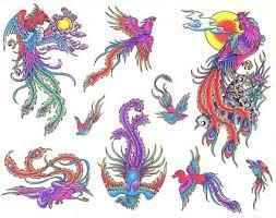 colored dragon bird tattoo tattoo from itattooz