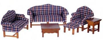 Plaid Living Room Furniture Dollhouse Living Room Furniture In 1 Scale From Fingertip
